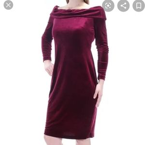 NWT Burgundy Velvet Dress